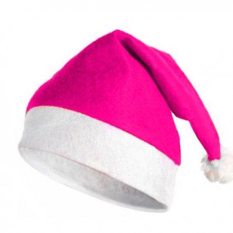 Gorro Navidad Rosa Fuerte