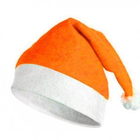Gorro De Papa Noel Naranja
